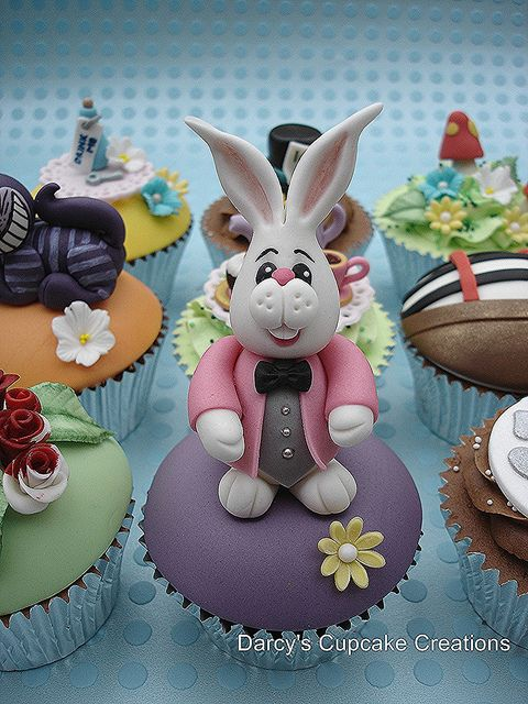 White Rabbit - Alice in Wonderland Collection by Darcy's Cupcake Creations