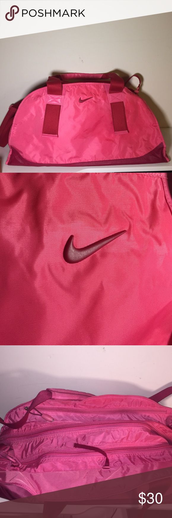 💖PRICE DROP💖 pink Nike duffle bag Nike pink duffle bag with three zippering compartments, I am willing to negotiate price☺️ Nike Bags