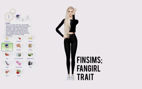 My Sims 4 Blog: Fangirl Trait by FinSims