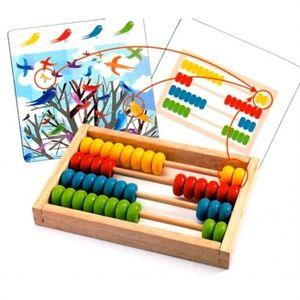 Learn to count with the abacus. E' bello imparare a contare con questo gioco di Djeco per bambini di età pre-scolare composto da un pallottoliere e 24 schede colorate. Quanti uccellini gialli ci sono sull'albero? E quanti rossi e verdi e blu? Conta con il pallottoliere i vari elementi illustrati dall'immagine, poi gira la carta e controlla il risultato. Scopri i nostri giochi educativi per bambini dai 3 ai 6 anni su http://www.giochiecologici.it/c/77/giochi-educativi #djeco