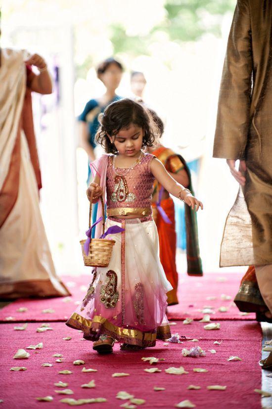 Such a cute flower girl :)   {Inspiration} Indian Wedding ...