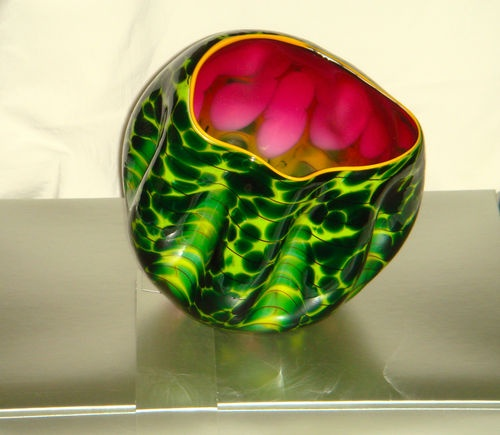 Dale Chihuly Sunset Macchia signed by artist