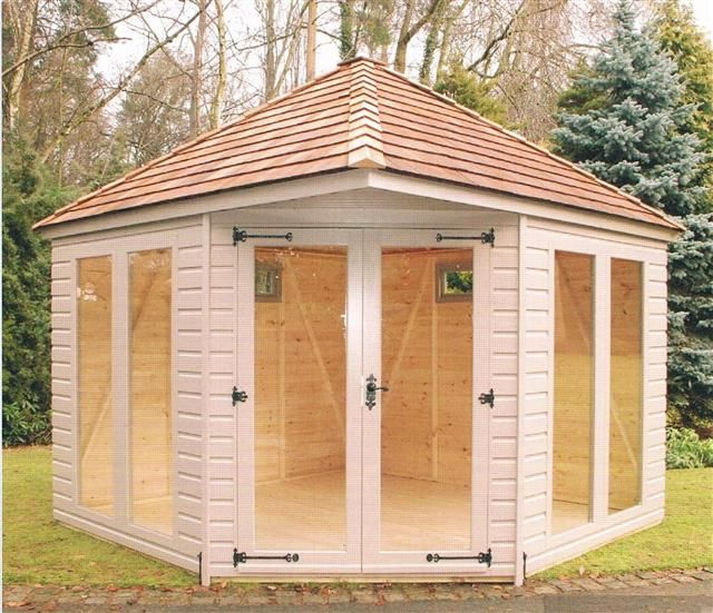 Corner summer houses | Corner Summer Houses- Purewell Timber Buildings Ltd