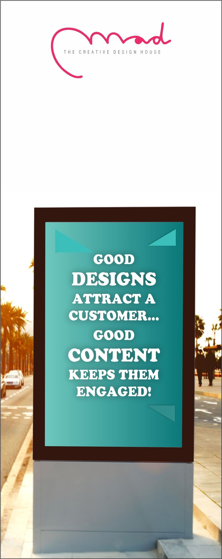 Whenever it comes to representing your company, let great content be part of it. Hire the professionals, today! #MadDesigns #BrandDesign #BrandConsultancy #brand #india #GoodDesigns #GoodContent