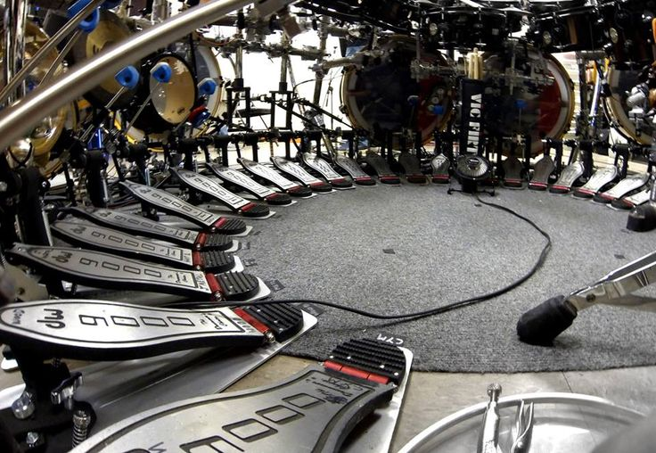 The Pedal Setup of the one and only Terry Bozzio Official. We love how Terry pushes the possibilities of a drum kit to not only be a melodic instrument, but a universe of sound.