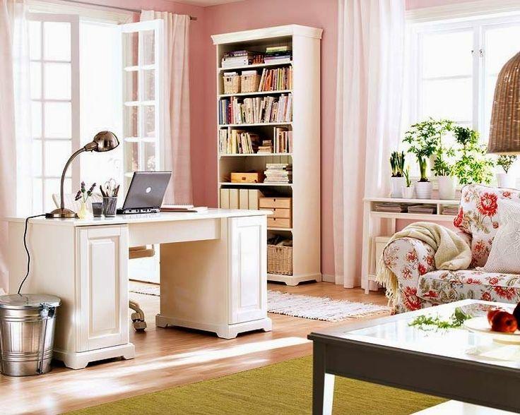 ev ofisi dekorasyonu fikirleri