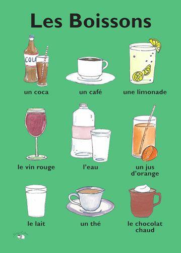 Poster - Les Boissons - Little Linguist