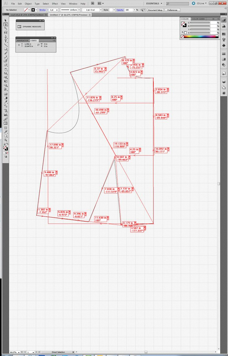 Pattern drafting using Adobe Illustrator