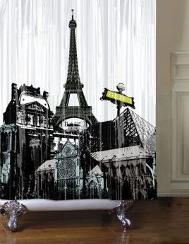 Paris Themed Bathroom Set | Here are some other cool Paris-themed shower curtains you can find out ...