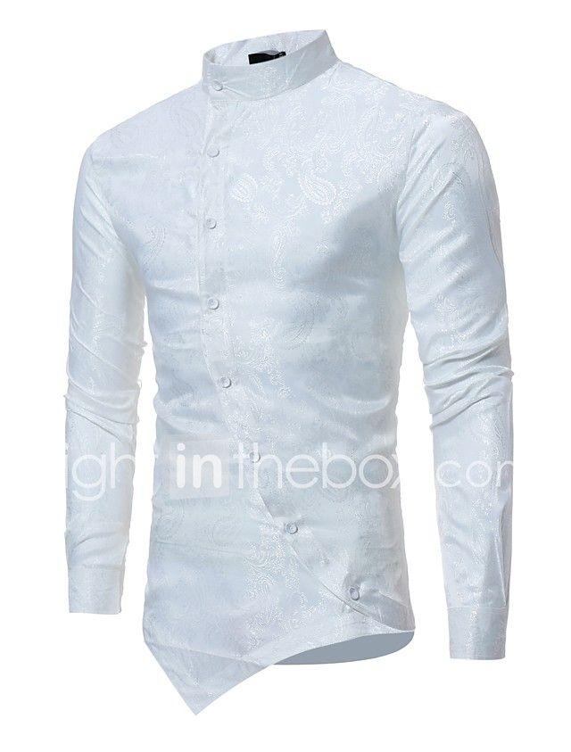 ac5c3a7077112 Hombre Lujo Jacquard Camisa