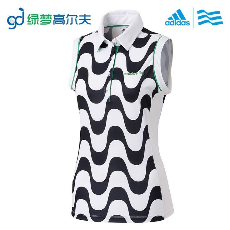 Adidas женская одежда для гольфа гольф Женщины без рукавов рубашки поло Дышащая Комфортно ПРОДАЖИ