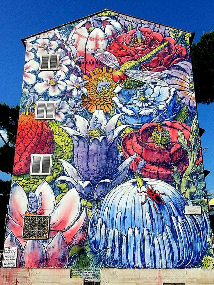295 best outdoor garden murals images on pinterest for Exterior mural painting