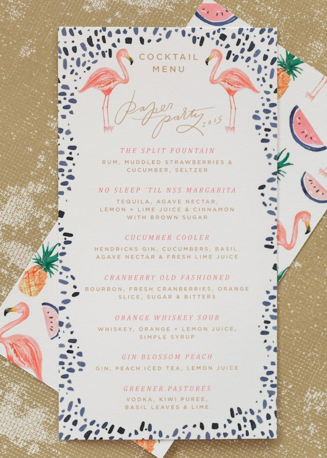 Paper Party 2015: Tropical Party Stationery by Swiss Cottage Designs / Photo by Charlie-Juliet Photography