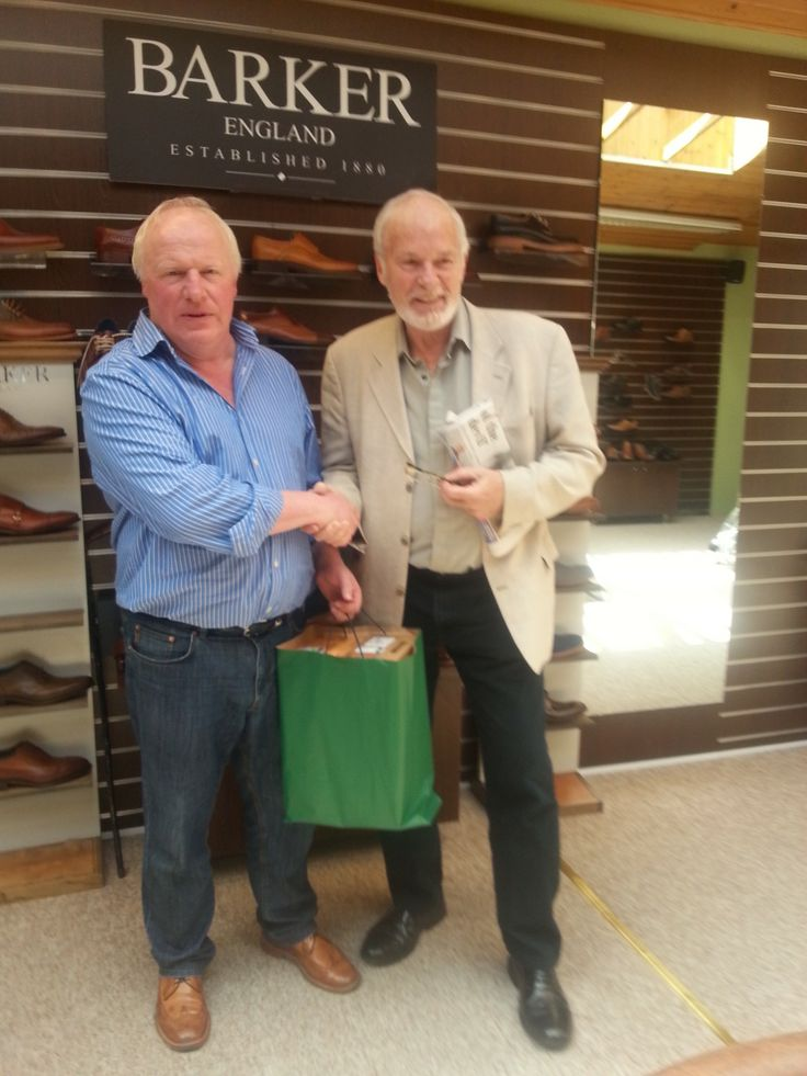 Game of Thrones star Ian McElhinney called in today for a fitting, he is pictured here with our managing director Robin Stewart.