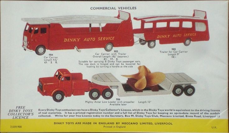 1950's DINKY TOYS illustrated price list 7th edition eBay