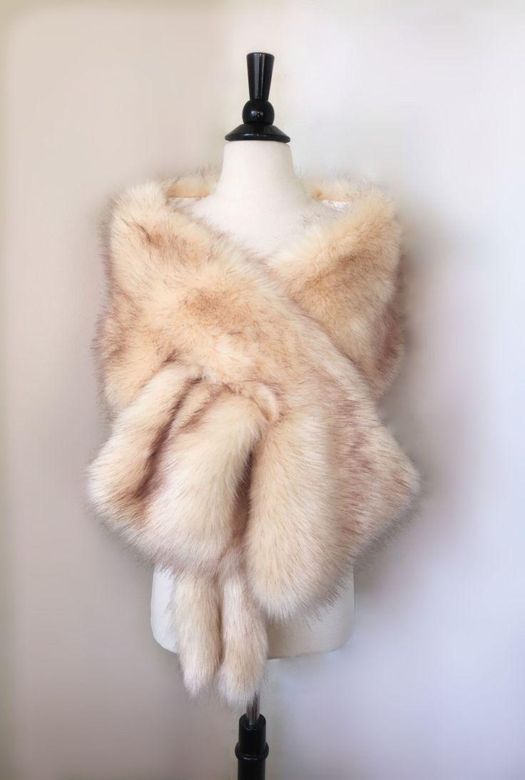 Champagne faux fur bridal wrap, Wedding Fur shrug, Fur Wrap, Bridal Faux Fur Stole Fur Shawl Cape, wedding faux fur wrap by SissilyDesigns on Etsy https://www.etsy.com/listing/480464105/champagne-faux-fur-bridal-wrap-wedding