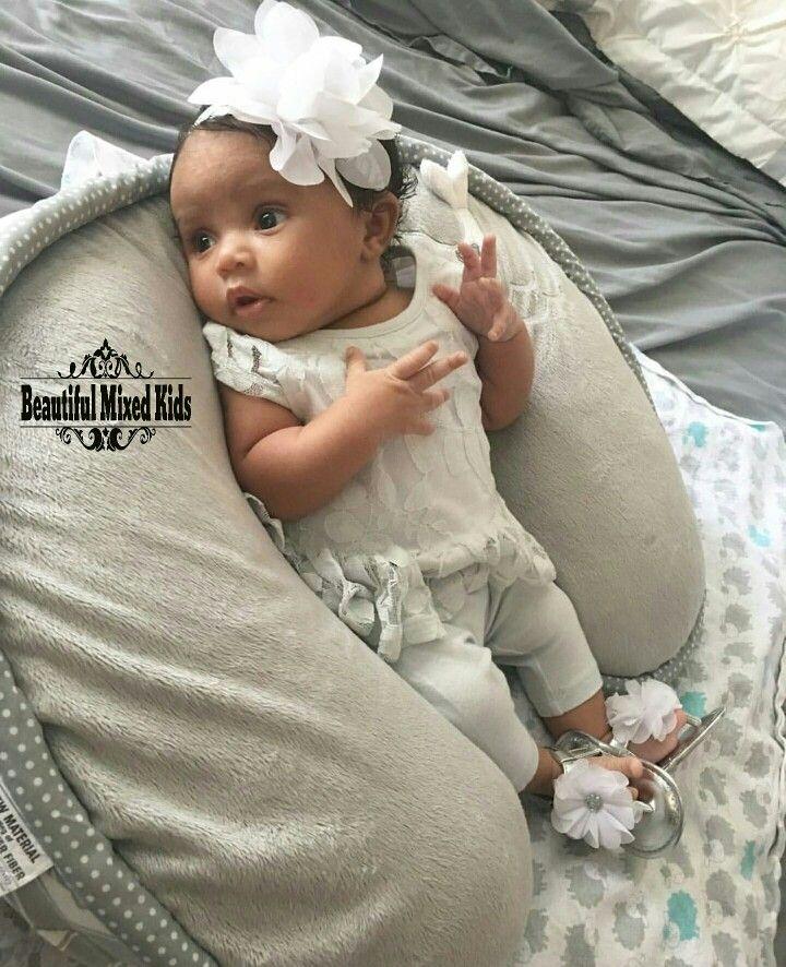 Ariah - 5 Weeks • African American, Native American & Puerto Rican ❤ FOLLOW @beautifulmixedkids on instagram WWW.STYLISHKIDSAPPAREL.COM