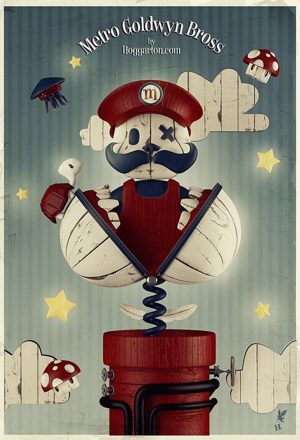Metro Goldwyn Bross by Julian Nuñez, #poster