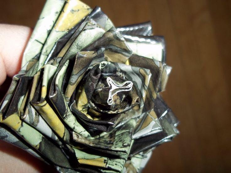 Camo Duct Tape Rose by DarkestTail.deviantart.com on @deviantART