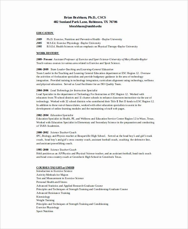 Sports Resume For Coaching Beautiful 12 Coach Resume Templates Pdf Doc Free Resume Template Word Resume Template Resume Template Free