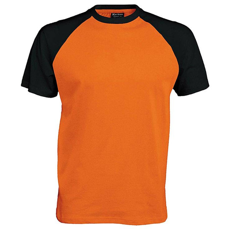 KARIBAN Baseball Short Sleeve T Shirt (Orange / Black) in a choice of colours with embroidered OR printed Crest. Check our Website for a selection of great quality garments in a range of sizes and colours for Gents, Ladies and Children. Plus discounts available for more than 2 garments ordered with the same CREST http://www.crestconnections.com