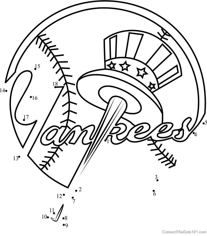 New York Yankees Logo Dot To Dot New York Yankees Logo Yankees Logo New York Yankees