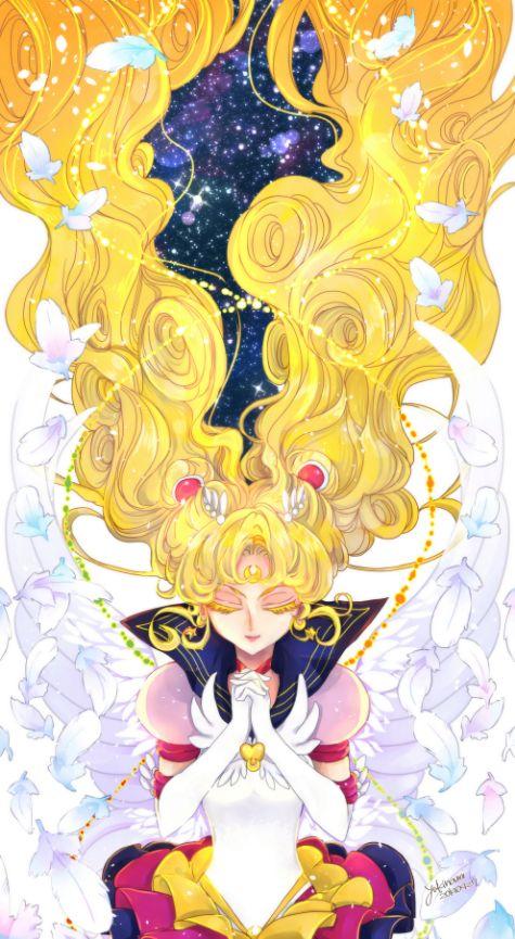 Tags: Anime, Feather, Bishoujo Senshi Sailor Moon, Tsukino Usagi, Praying, Sailor Moon (Character), Twin Buns
