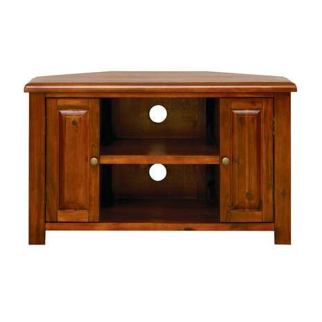 Winchester Acacia Dark Wood Corner TV Unit