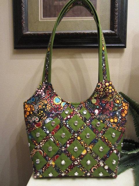 Handmade Handbag Amelia Caruso Fabric Purse Tote By Kayscollection 42 00 Handbags Pinterest And Bags