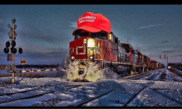 Steamrollin' down the track pushing the swamp out of the way. Get on board or be left behind!
