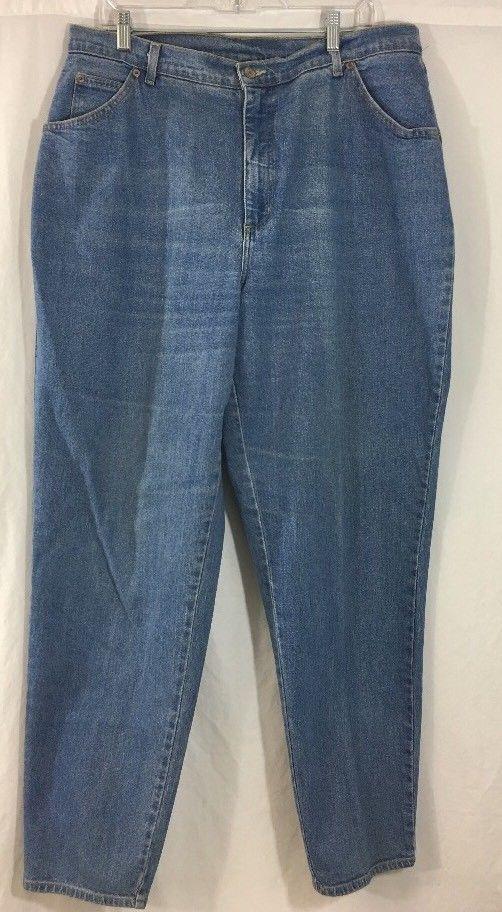 ce1061f2f38 JMS Just My Size Womens Classic Stretch Blue Jeans Size 18W Medium Wash  Denim