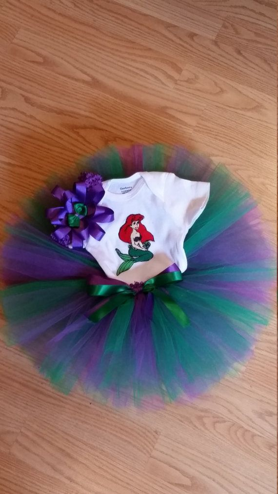Little Mermaid Tutu Outfit by SarasCornerCrafts on Etsy