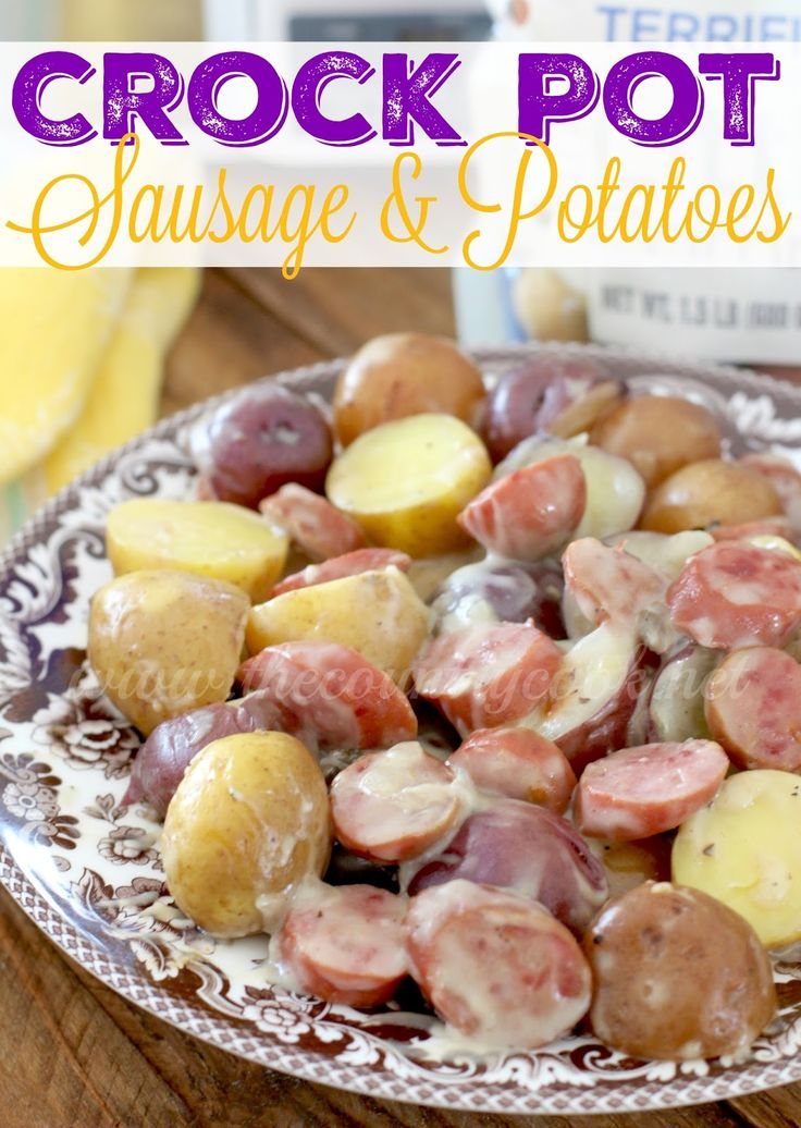 Crock Pot Sausage & Little Potatoes is a super simple meal that packs a punch of flavor. It is meat and potatoes at its best. So good!