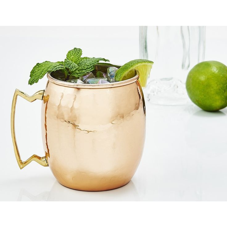 Mix up classic Moscow Mules and more with the help of these hammered copper 16-ounce mugs from Old Dutch. The traditional spicy ginger and lime vodka cocktail has been classically served in copper mug