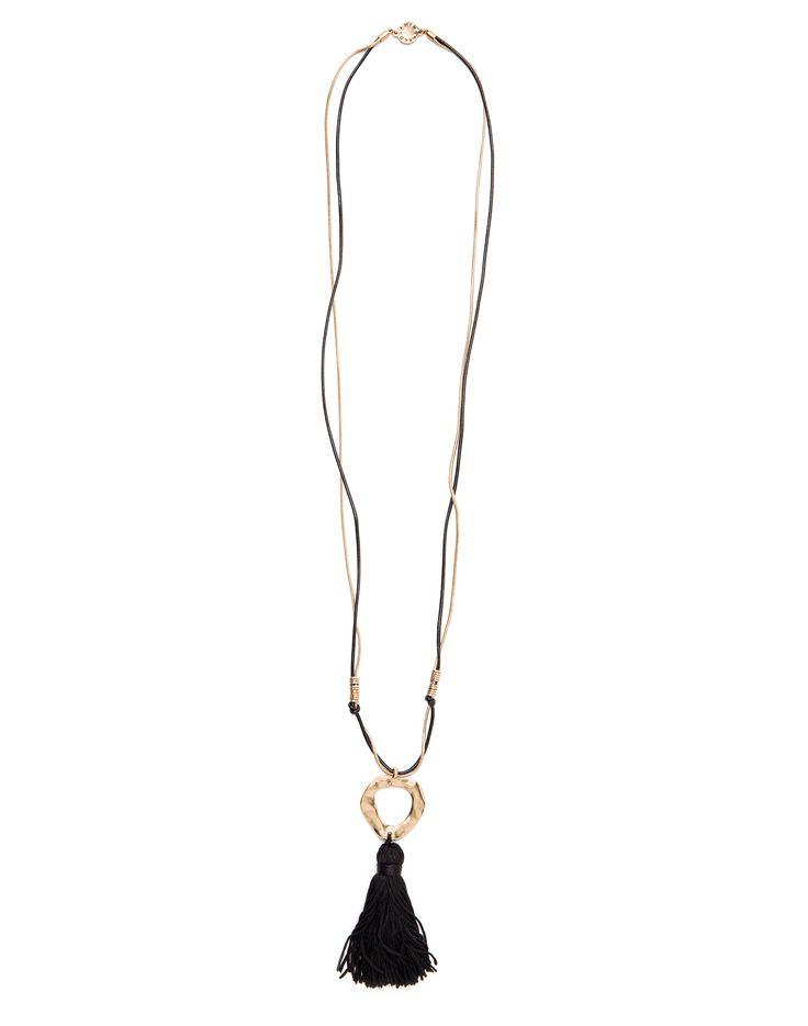 Collar pompón negro 48 > 33 EUR | BIMBA Y LOLA ®