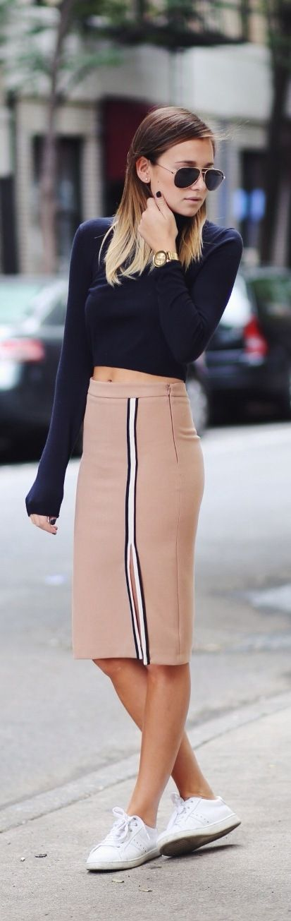 Stylish with zara skirt