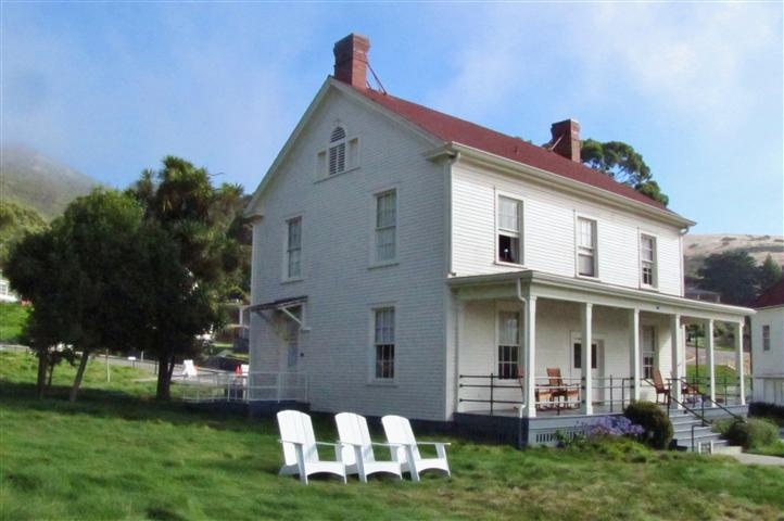 A historic building at Cavallo Point Lodge
