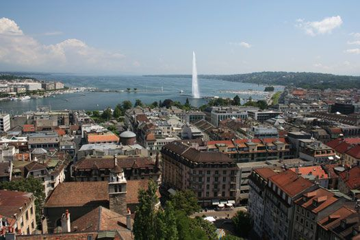 Geneva is the second most populous city in Switzerland after Zurich and is the most populous city of Romandie, the French-speaking part of Switzerland. Situated where the Rhone exits Lake Geneva, it is the capital of the Republic and Canton of Geneva.