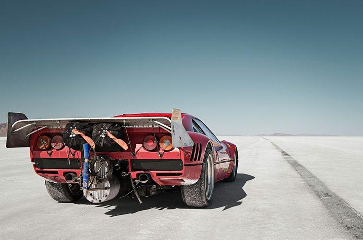 Ferrari 288 GTO Bonneville Salt Flats.
