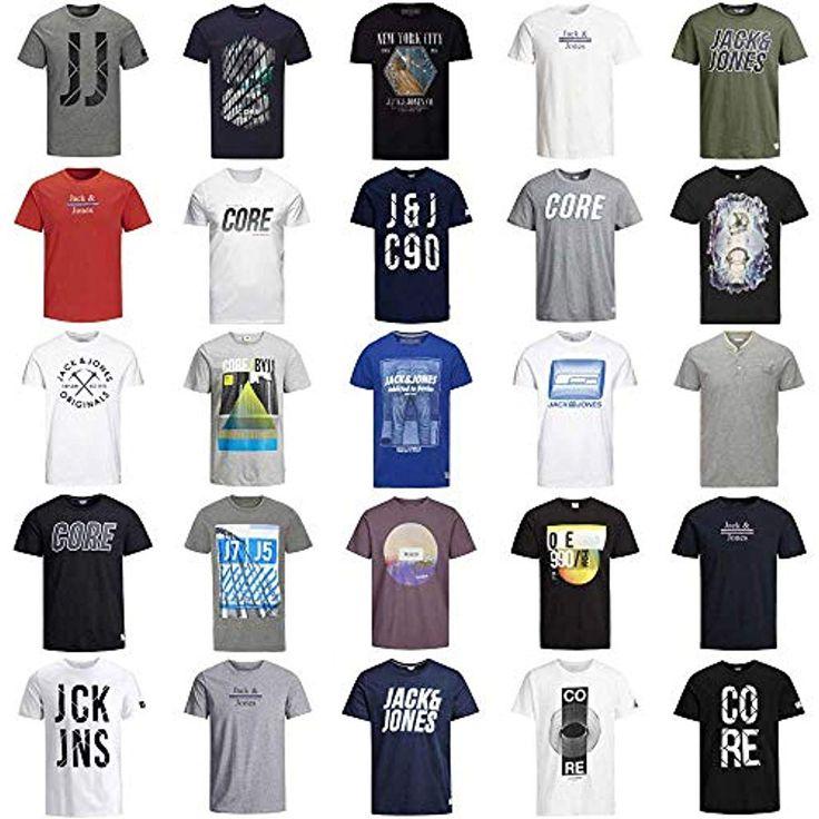 JACK JONES T Shirt Herren 3er 4er 6er Mix Rundhals Tee Regular fit Baumwolle S M…