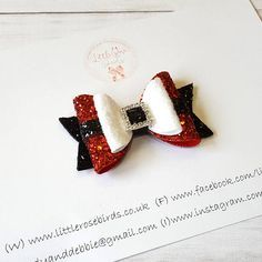 Baby/Girl Christmas Hair Bow Red Hair Bow Stocking Filler