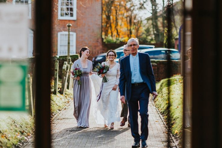 Sometimes you just need your best mate and your Dad to help you get down the aisle. Photo by Benjamin Stuart Photography #weddingphotography #bridesmaids #bride #weddingday #gettingmarried #weddingflowers #maidofhonour