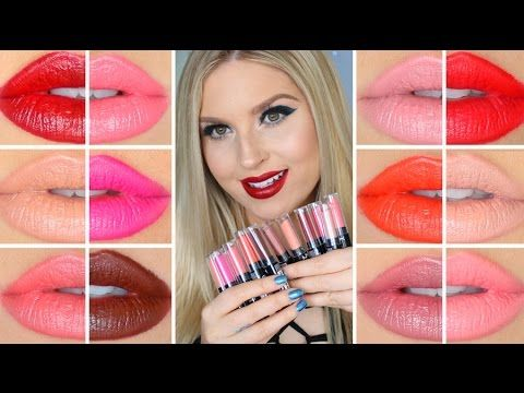 Todays vid is a bunch of lip swatch & review on these super pigmented and affordable NYX Cosmetics lipsticks! - SEXY AND SWEET https://www.youtube.com/watch?...