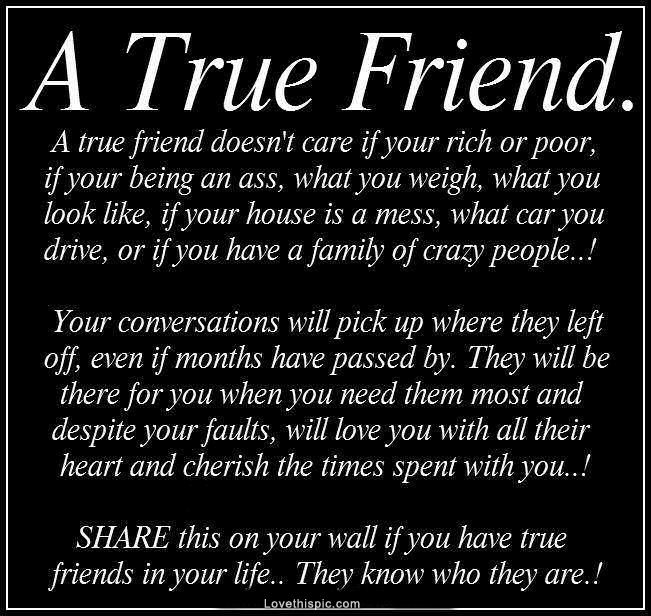 A True Friend Life Quotes Friendship Black And White Quote Bff Friendship  Quote