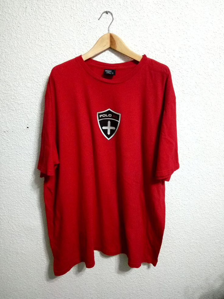 Vintage Polo Ralph Luaren Roundneck Red Colour by GoShopVintageStore on Etsy