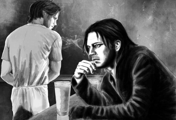 Sam Winchester walks into a bar and meets Bucky Barnes
