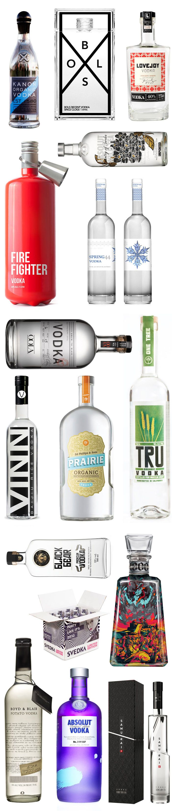 National Vodka Day. Here's some great bottles #packaging via @thedieline