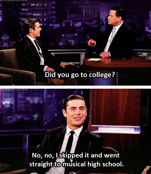 Zac Efron+High School Musical :)