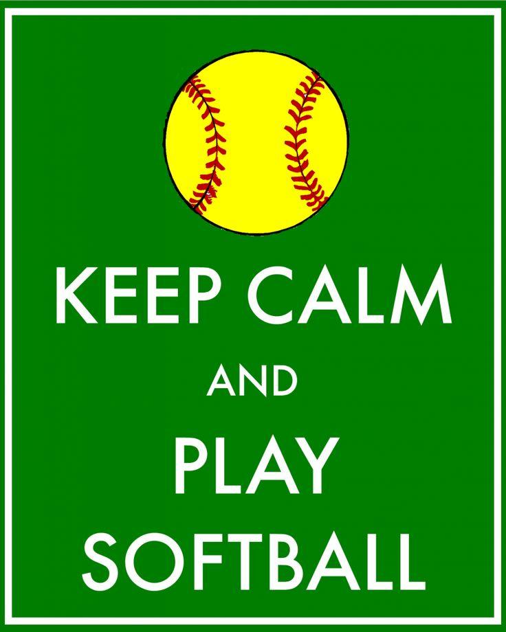 Free printable keep calm and play softball poster