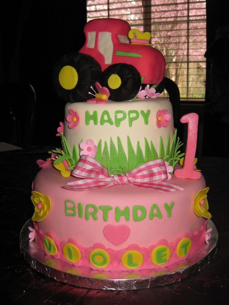 31 best images about john deere birthday on pinterest for Decorating 1st birthday cake